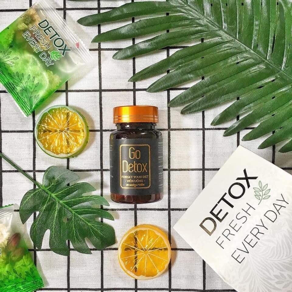 [VẠCH TRẦN] Review thuốc giảm cân Go Detox có tốt không? Go Detox giảm cân lừa đảo?